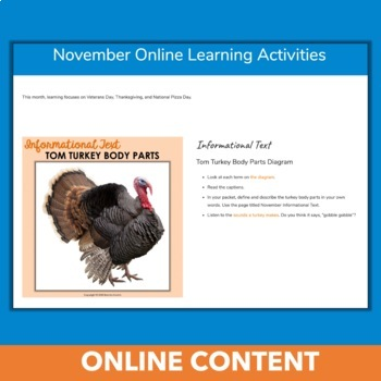 November Independent Learning Module (ILM) Thanksgiving Chromebook Activities