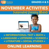 Thanksgiving Chromebook Activities - November Independent Learning Module (ILM)
