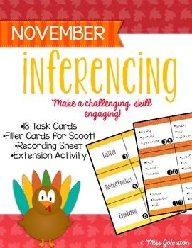 November Inferencing Task Cards