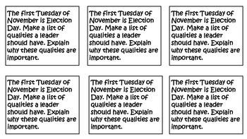 November Daily Informal Journal Prompts