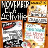 Black Friday + Thanksgiving | November Informational Readi