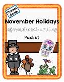 November Informational Writing Pack