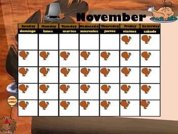November Interactive Calendar