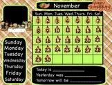 November Interactive Flipchart Calendar for Promethean Board