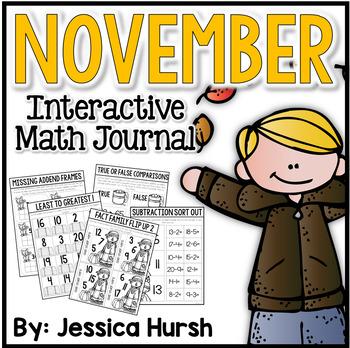 November Interactive Math Journal