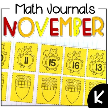 November Interactive Math Journal Kindergarten