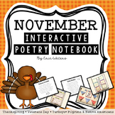 November Interactive Poetry Notebook {With Original Poems!}