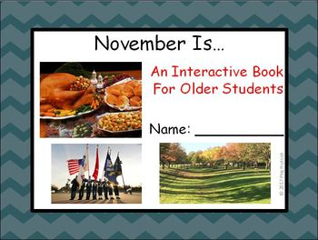 November Is...: An Interactive Book for Older Students