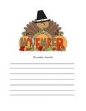 November Journal Blank