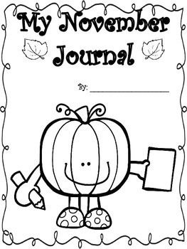 November Journal Booklet...YOU PICK IT...NO prep!!