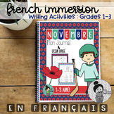 November Journal French and Directed Drawings Remembrance Day