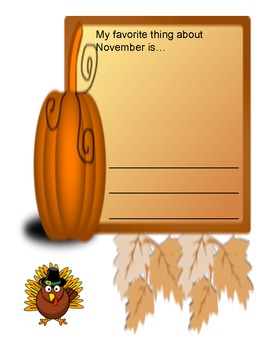 November Journal Prompt