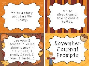 November Journal Prompt Cards