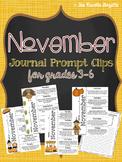 November Journal Prompt Clips