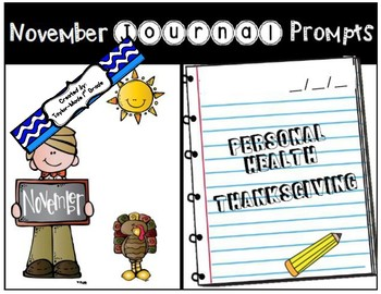November Journal Prompts - NO PREP & PAPERLESS
