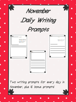 November Journal Prompts-No Prep
