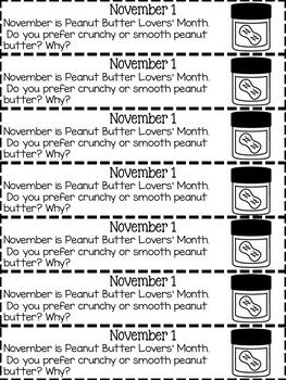 November Journal Prompts (Primary)