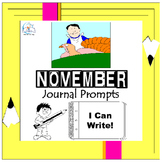 November Writing Prompts Quick Writes