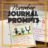 November Journal Prompts for Daily Writing including Thanksgiving Break pages