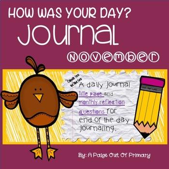 November / Journal Reflective Writing