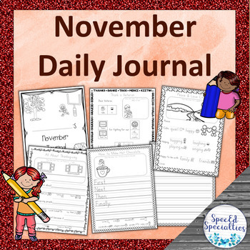 Remembrance Day / Thanksgiving Journal Writing for Special Education (November)
