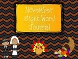 November Sight Word Journal