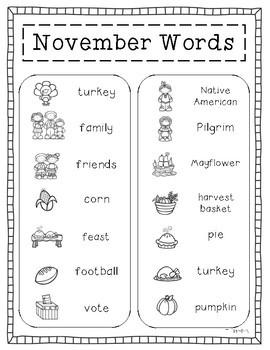 November Journals - Prompts and Writing Papers
