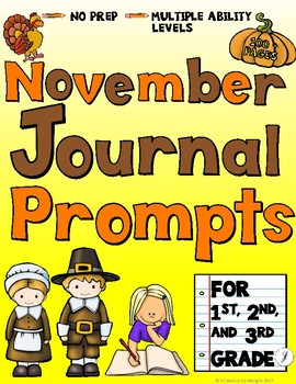 November Journals for Primary Students