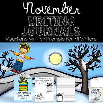 November Journals with Visual and Written Prompts
