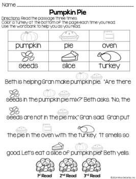 November Just Print Fluency Pack
