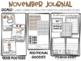 Writing Journal Kindergarten November Adding Spaces + Character Building Vocab