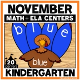 November Kindergarten Centers - Math and Literacy