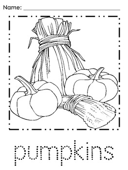 Kindergarten Thanksgiving Coloring