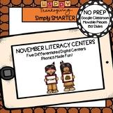 November Kindergarten Digital Literacy Centers For GOOGLE CLASSROOM