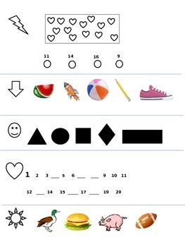 November Kindergarten Math Quiz