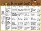 November Kindergarten Homework Calendar *Common Core Aligned*