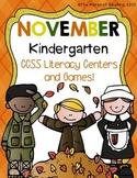 November Kindergarten Literacy Centers CCSS Aligned