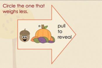 November Kindergarten Math Activities for Interactive Smartboard (Notebook 11)