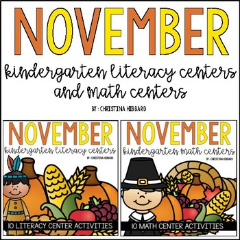 November Kindergarten Math & Literacy Centers