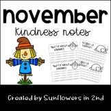 November Kindness Notes
