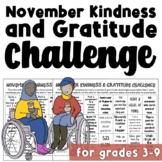 November Kindness and Gratitude Challenge: Thanksgiving Activity