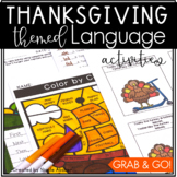 November Language Activities for Speech Therapy