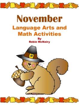 November Language Arts and Math Activities