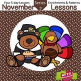 November Lessons Preschool Pre-K Kindergarten Curriculum B