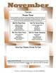 November Lesson Plans Series 3 (Four 5-day Unit)