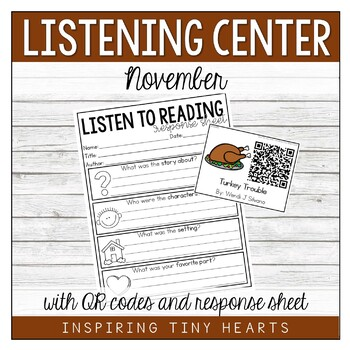 November Listening Center with QR codes