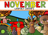 November Literacy Centers for Kindergarten {CCSS}
