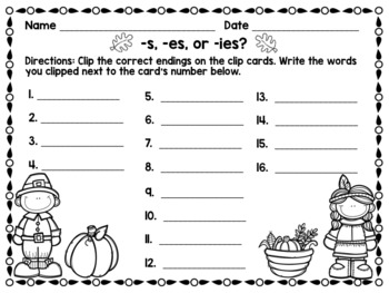 November Literacy Centers {CCSS Aligned}