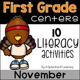 November Literacy Centers - First Grade