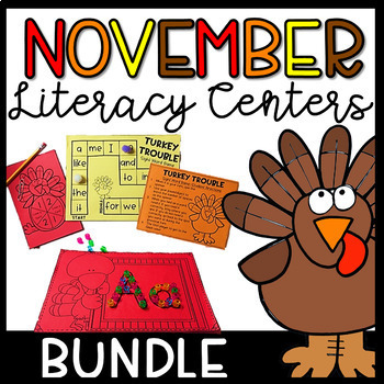 November Literacy Centers and Activities, Thanksgiving Activities